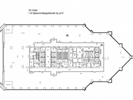 Лот № 1270, Меркурий Сити, Аренда офисов в ЦАО - План
