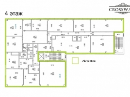 Лот № 13267, Бизнес-центр CrossWall, Продажа офисов в ЗАО - План
