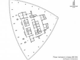 Лот № 13271, Москва-сити, Башня Федерация (Восток), Продажа офисов в ЦАО - План