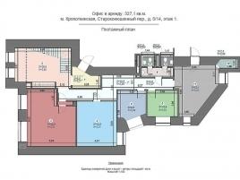 Лот № 2277, Аренда офисов в ЦАО - План