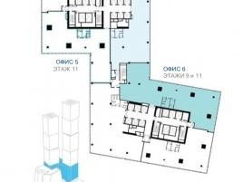 Лот № 3451, Многофункциональный комплекс Город Столиц, Продажа офисов в ЦАО - План