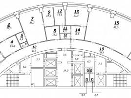 Лот № 3627, БЦ Башня 2000, Аренда офисов в ЗАО - План