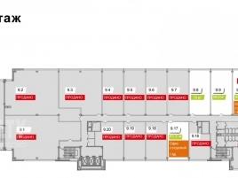 Лот № 3831, БЦ Хамелеон, Продажа офисов в ЮВАО - План