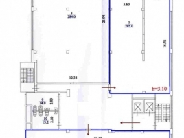 Лот № 3920, БЦ Центр Юнион, Аренда офисов в ЮВАО - План