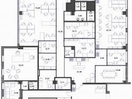 Лот № 4357, БЦ Магистраль Плаза, Продажа офисов в СЗАО - План