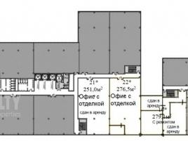 Лот № 4361, Бизнес-центр West Plaza, Продажа офисов в ЮЗАО - План