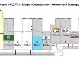 Лот № 4386, Торговая Галерея «Радуга», Аренда офисов в СЗАО - План