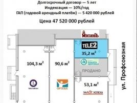 Лот № 4447, Продажа офисов в ЮЗАО - План