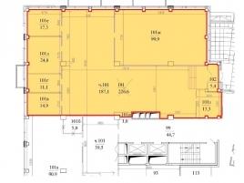 Лот № 445, Бизнес-центр Святогор-4, Аренда офисов в ЦАО - План