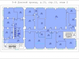 Лот № 4619, Бизнес-парк Донской, Аренда офисов в ЮАО - План