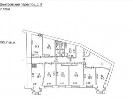 Лот № 4632, ОСЗ на Театральной, Аренда офисов в ЦАО - План