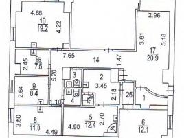 Лот № 4740, ПСН на Арбате, Продажа офисов в ЦАО - План