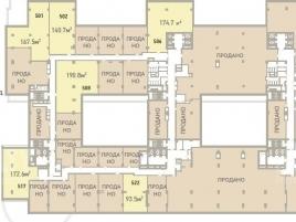 Лот № 4854, Гостинично-деловой центр Парк Победы, Продажа офисов в ЗАО - План