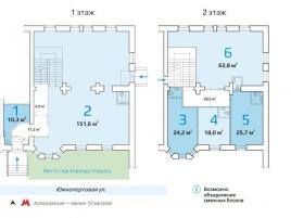 Лот № 5195, Продажа офисов в ЮВАО - План