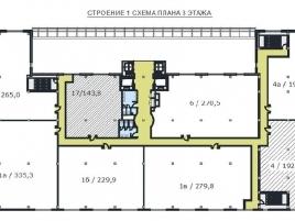 Лот № 5535, Бизнес-центр West Plaza, Аренда офисов в ЮЗАО - План