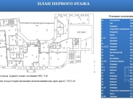 Лот № 556, Аренда офисов в ЦАО - План