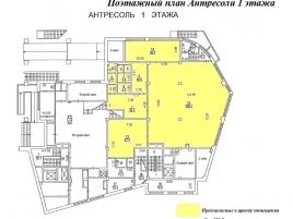 Лот № 5861, Аренда офисов в ЮЗАО - План
