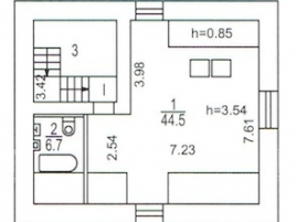 Лот № 6215, Продажа офисов в ЦАО - План