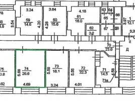 Лот № 6413, Аренда офисов в ЦАО - План