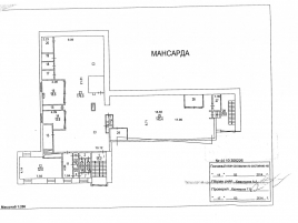 Лот № 6607, ОСЗ на Большом Кисловском, Продажа офисов в ЦАО - План