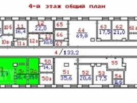 Лот № 6872, Аренда офисов в САО - План