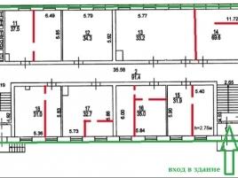 Лот № 7178, Торгово-офисный центр «К-24», Аренда офисов в ЦАО - План