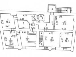 Лот № 7636, Продажа офисов в ЦАО - План