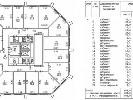 Лот № 763, Бизнес-центр Сильвер Хаус, Аренда офисов в ЮЗАО - План