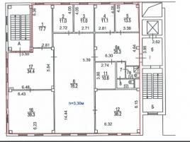 Лот № 856, Бизнес-центр Гамма, Аренда офисов в ЮАО - План