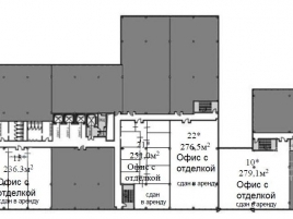 Лот № 931, Бизнес-центр West Plaza, Продажа офисов в ЮЗАО - План